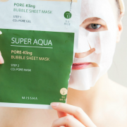 MISSHA SUPER AQUA PORE-KLING BUBBLE SHEET MASK 1